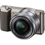 Camera foto Sony A5100LB, 24.3 MP, Argintiu + Obiectiv Sony SELP1650, 16-50 mm
