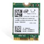 Placa de retea Intel 7260.NGWWB, Dual Band Wireless,  2 x 2 AC + BT, M.2