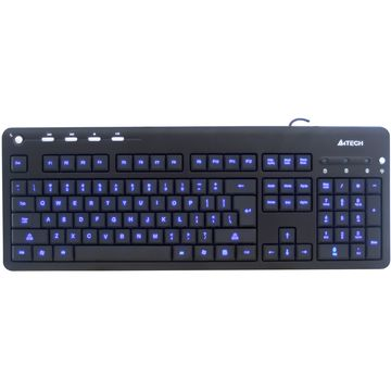 Tastatura A4tech KD-126-1, USB, LED Blue, Negru