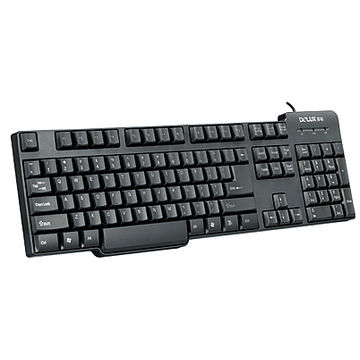 Tastatura Delux DLK8050P, PS 2, Office, Negru