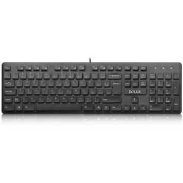 Tastatura Delux KA150P, PS2, Office, Negru