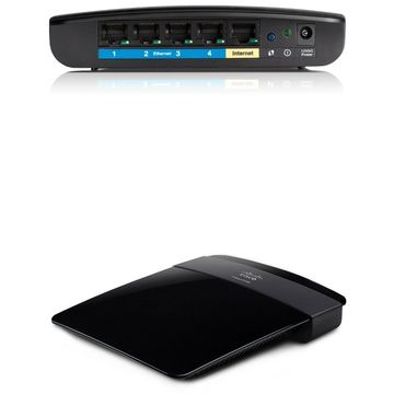 Router Linksys E1200, 802.11 n, 2.4 GHz, Negru