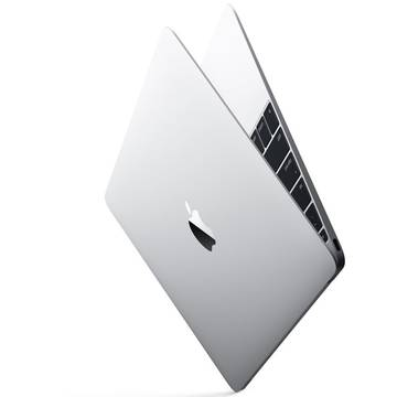 Laptop Apple MacBook 12 cu procesor Intel Dual Core M 1.10GHz, Broadwell, 12, Ecran Retina, 8GB, 256GB SSD, Intel HD Graphics 5300, OS X Yosemite, INT KB, Argintiu
