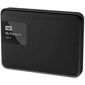 Hard Disk extern Western Digital My Passport Ultra 1TB, 2.5 inch, USB 3.0, Negru