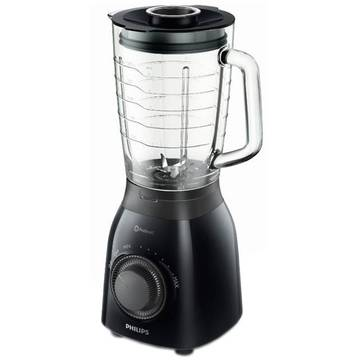 Blender Philips Daily Collection HR2173/90, 600 W, 1.5 l, Variospeed, Functie impuls, Negru
