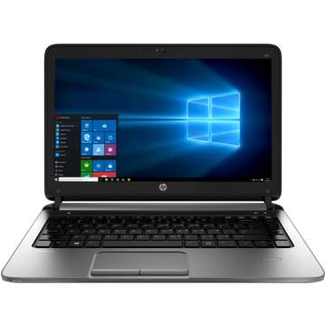 Laptop HP N1B07EA, Intel Core i3, 4 GB, 128 GB SSD, Microsoft Windows 7 Pro + Microsoft Windows 10 Pro, Negru / Argintiu
