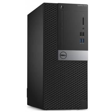 Sistem desktop Dell OptiPlex 5040 MT, Intel® Core™ i5-6500 3.20GHz, Skylake™, 8GB, 500GB, DVD-RW, Intel® HD Graphics, Ubuntu Linux 14.04 SP1, Mouse + Tastatura, Negru, N017O5040MT01_UBU