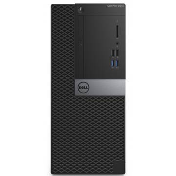 Sistem desktop Dell OptiPlex 5040 MT, Intel® Core™ i7-6700 3.4GHz Skylake, 8GB DDR3, 500GB HDD, GMA HD 530, Win 7 Pro + Win 10 Pro, Negru, N022O5040MT02_WIN