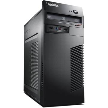 Sistem desktop Lenovo ThinkCentre M73 TWR, Intel® Pentium® G3440 3.30GHz, Haswell™, 2GB, 500GB, DVD-Rambo, Intel® HD Graphics, Windows 10 Pro, 10B1002URI