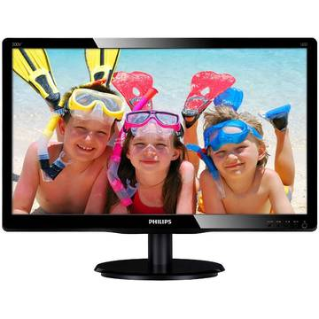 Monitor Philips 200V4QSBR/00, 19.5 inch, 8 ms, Full HD, Negru