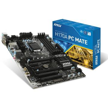 Placa de baza MSI H170A PC MATE, ATX, Socket 1151
