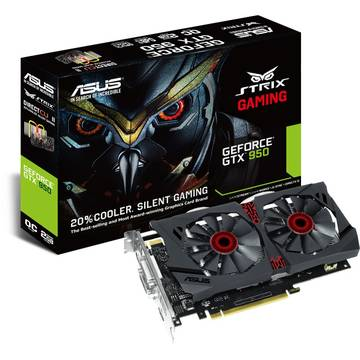 Placa video Asus GeForce GTX 950 STRIX DirectCU II OC, 2 GB DDR5, 128 bit