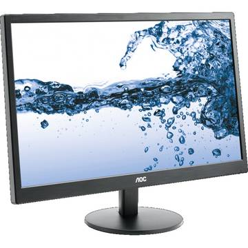Monitor AOC E2270SWHN, 21.5 inch, 5 ms, Full HD, Negru