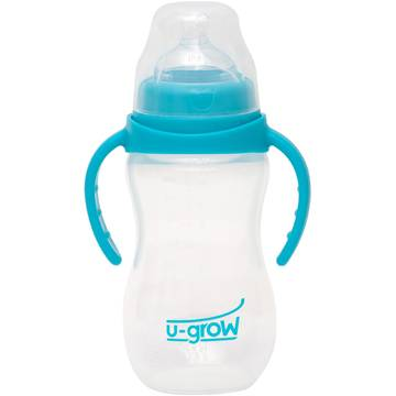 Biberon U-Grow A-1076, 330 ml, Albastru