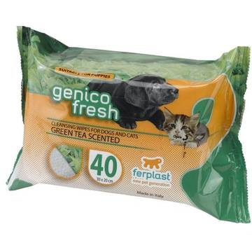 Servetele umede Ferplast Genico Fresh Green Tea, 40 buc