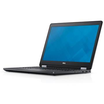 Laptop Dell N007LE557015EMEA_W, Intel Core i7-6600U, 8 GB, 500 GB, Microsoft Windows 7 Pro + Microsoft Windows 10, Negru