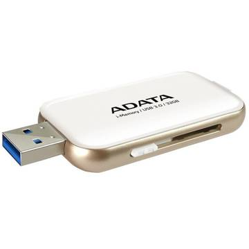 Memory stick A-Data UE710, 32 GB, USB 3.0, Alb