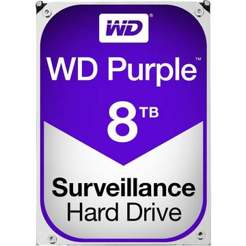 Hard Disk WD Purple, 8 TB, 5400 RPM, 128 MB, SATA 3