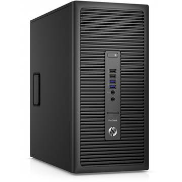 Sistem desktop HP ProDesk 600 G2 MT, Intel Core i3-6100, 4 GB, 1 TB, Microsoft Windows 7 Pro + Microsoft Windows 10 Pro, Negru