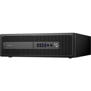 Sistem desktop HP EliteDesk 800 G2 SFF, Intel Core i3-6100, 4 GB, 500 GB, Microsoft Windows 7 Pro + Microsoft Windows 10 Pro, Negru