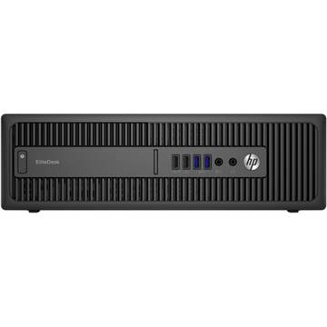 Sistem desktop HP EliteDesk 800 G2 SFF, Intel Core i7-6700, 8 GB, 500 GB, Microsoft Windows 7 Pro, Negru