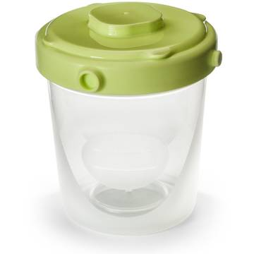 Set recipiente Nuvita 1464, 200 ml, 4 recipiente, Verde