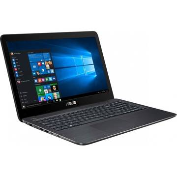 Laptop Asus X556UB, Intel Core i7-6500U, 4 GB, 1 TB, Microsoft Windows 10 Home, Negru / Maro