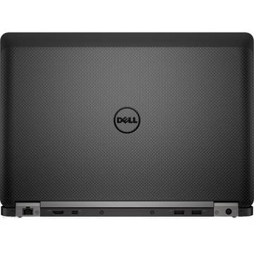 Laptop Dell Latitude E7470 (seria 7000), Intel Core i7-6600U, 8 GB, 512 GB SSD, Microsoft Windows 7 Pro + Microsoft Windows 10 Pro, Negru