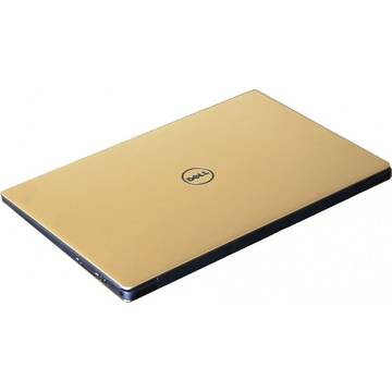 Laptop Dell XPS 13 (9350) QHD+, Intel Core i7-6560U, 8 GB, 256 GB SSD, Microsoft Windows 10 Home, Auriu