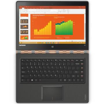 Laptop Lenovo Yoga 900-13 (Flex 3), Intel Core i7-6560U, 16 GB, 512 GB SSD, Microsoft Windows 10 Home, Auriu