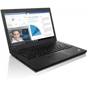 Laptop Lenovo Thinkpad T460p, Intel Core i5-6300HQ, 8 GB, 512 GB SSD, Microsoft Windows 7 Pro + Microsoft Windows 10 Pro, Negru