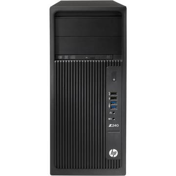 Sistem desktop HP Z240 TWR, Intel Xeon E3-1245 v5, 16 GB, 2 TB, Microsoft Windows 7 Pro + Microsoft Windows 10 Pro