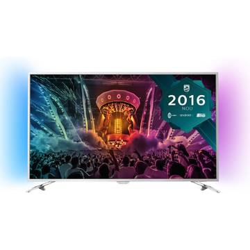 Televizor Philips PUS6501/12, 123 cm, 4K UHD, Smart TV, Argintiu