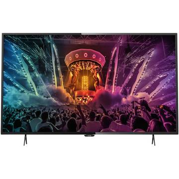 Televizor Philips PUH6101/88, 139 cm, 4K UHD, Smart TV, Negru