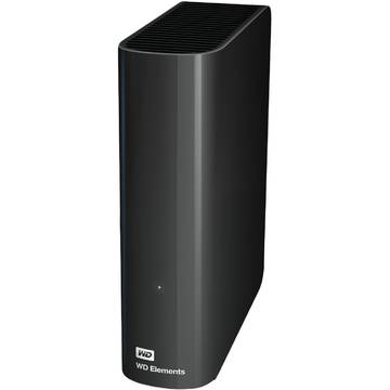 Hard Disk extern WD Elements, 4 TB, 3.5 inch, USB 3.0, Negru