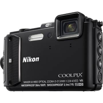 Camera foto Nikon COOLPIX AW130, 16.76 MP, Diving Kit, Negru