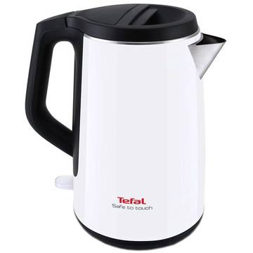 Fierbator Tefal Safe to Touch White KO3701, 2400 W, 1.5 l, Alb