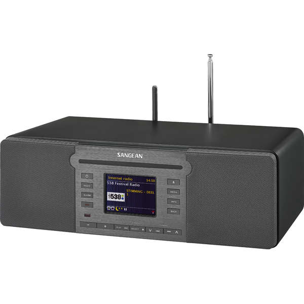 Radio Sangean DDR-66 BT, DAB+, FM-RDS, CD, USB, SD, Aux-in, Bluetooth, Negru
