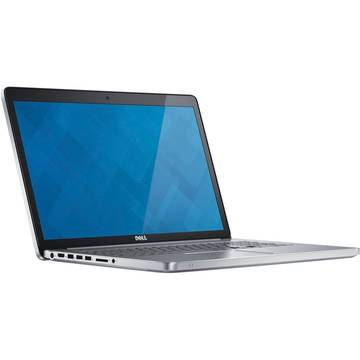 Laptop Dell Inspiron 7000, Intel Core i7-7500U, 17.3 inch, 16GB RAM, SSD 512GB, Win 10 Home, Argintiu