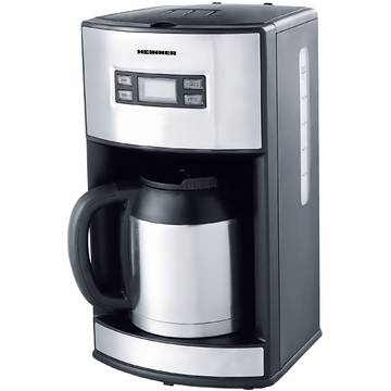 Cafetiera Heinner Master Collection HCM-1000XMC, 1000 W, 1.2 l, Argintiu/Negru