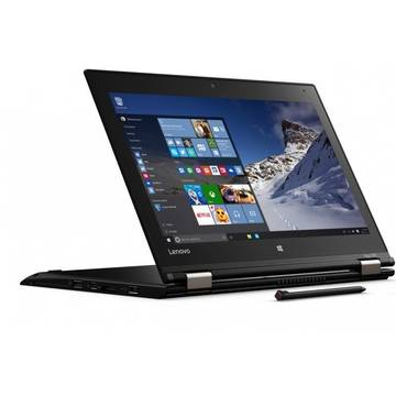 Laptop Lenovo ThinkPad Yoga 260, Intel Core i5-6200U, 12.5 inch, 8GB RAM, SSD 256GB, GMA HD 520, Win 10 Pro, Negru
