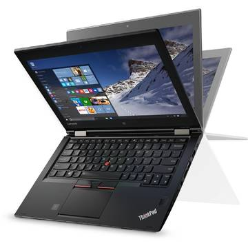 Laptop Lenovo ThinkPad Yoga 260, Intel Core i7-6600U, 12.5 inch, 16GB RAM, SSD 512GB, GMA HD 520, Win 10 Pro, Negru