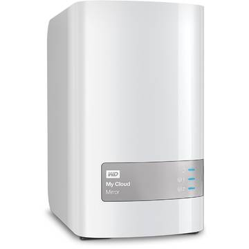Hard Disk extern WDBWVZ0080JWT-EESN, Cloud Mirror 8TB, Gigabit Ethernet, USB 3.0