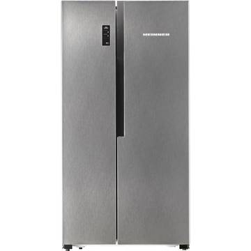 Side by side Heinner HSBS-520NFX+, 516 l, Clasa A+, Full No Frost, Display, H 178.6 cm, Inox