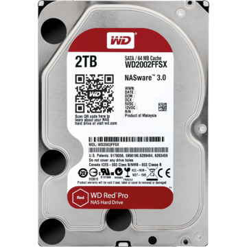 Hard Disk WD2002FFSX, 3.5 inch, 2 TB, SATA 3, 7200 RPM, 64 MB, Red Pro