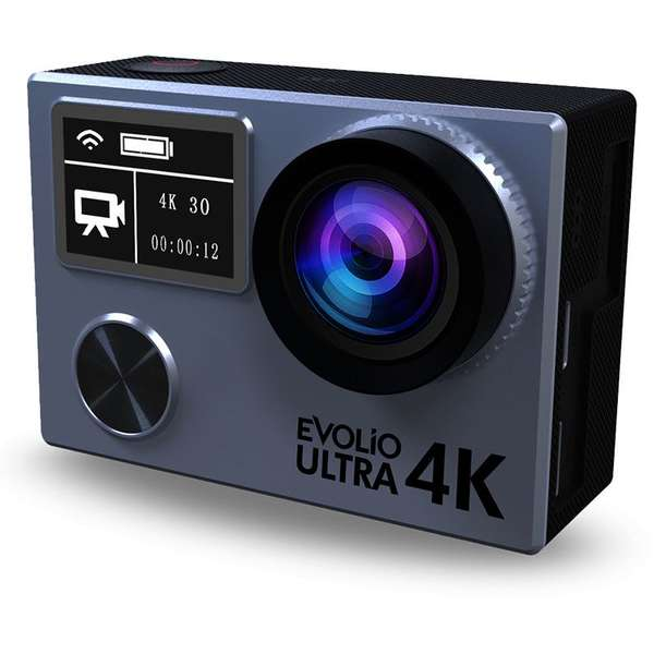 Camera video Evolio Smart Ultra, 4K UHD, Wi-Fi, Negru