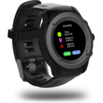 Ceas inteligent Evolio X-Watch Sport, Bluetooth 4.0, IPS, GPS, Negru