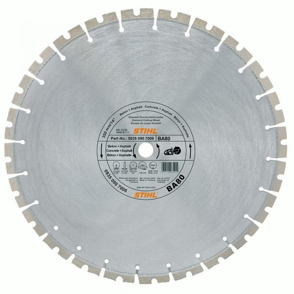 Disc abraziv diamantat Stihl BA 80, Diametru 350 mm