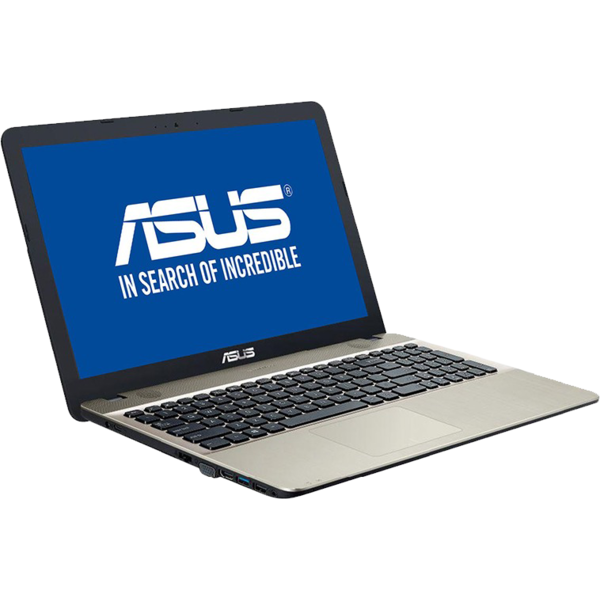 Laptop Asus X541NA, 15.6 inch, HD, Procesor Intel Celeron Dual Core N3350 (2M Cache, up to 2.4 GHz), 4GB, 500GB, GMA HD 500, Endless OS, Chocolate Black, no ODD