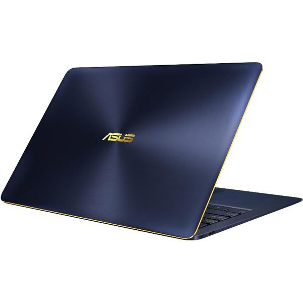 Laptop Asus ZenBook 3 Deluxe UX490UAR, Intel Core i7-8550U, 8 GB, 512 GB SSD, Microsoft Windows 10 Home, Albastru